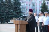 На площади Партизан сотрудники органов внутренних дел молитвенно почтили память погибших в Великой Отечественной войне