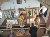 Первое престольное торжество в храме Василия Великого села Хинель возглавил благочинный Севского церковного округа