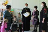 Благочинный Карачевского церковного округа и начальник районного управления образования посетили Дроновскую среднюю школу