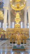 В Неделю 17-ю по Пятидесятнице Митрополит Александр совершил Божественную литургию в Брянском Кафедральном Соборе