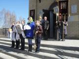 Учащиеся Лопушской средней школы на Светлой седмице посетили Литургию