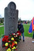 В годовщину геноцида армян на территории Брянского Кафедрального Собора у хачкар совершена лития